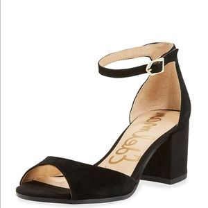 Sam Edelman Black Susie Block Strap Sandal 8M